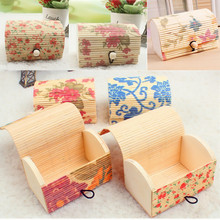New 1pcs Jewelry Boxes Bamboo Wooden Storage Boxes Jewelry Case Gift Box Necklace