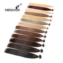 MRSHAIR 1g/pc Remy Fusion Hair Extensions 20Inches Remy Nail Hair U Tip Human Hair Keratin Bonded European Hair Salon 50pc 100pc(China)