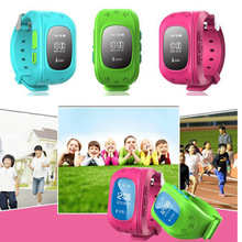 Excellent!!! Q50 baby Go Mini GPS Watch Kids gps tracker 3 colors SOS Emergency Anti Lost Smart Phone App Bracelet Wristband