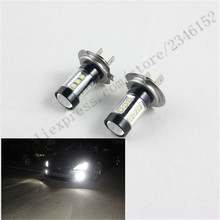 2pcs Car accessories Motorcycle 9-30V 80W H7 Xenon White LED Headlight DRL Fog Light lamp bulbs