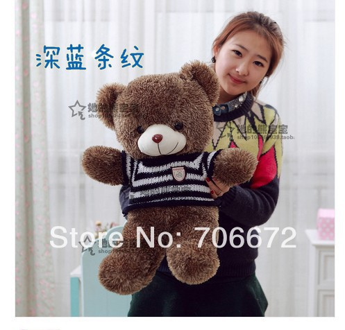 New stuffed blue stripes sweater teddy bear Plush 60 cm Doll 23inch Toy gift wb4222<br><br>Aliexpress