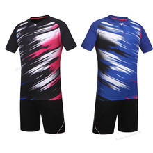 Adsmoney polo tennis kleding Badminton Training Sets Men Women Breathable Badminton Shirts Clothes Tennis Quick Dry Sport Wear(China)