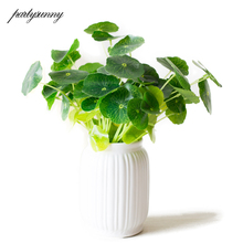 Branches Green Artificial flowers Lotus Leaf Flower Pots Vases Home Decoration Artificial Flowers Bouquet New Year's Decor House(China)