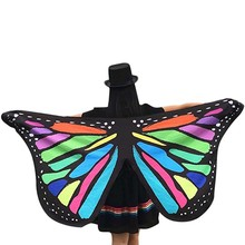 Special Butterfly Design Wings Printed Pashmina Ladies Women Scarf Soft Fairy Fabric Nymph Pixie Accessory Suit Beach Towel