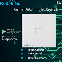 New EU Standard Broadlink TC2 1 Gang Wifi Light Wall Switch Touch Screen Smart Phone Remote Control Lamps APP Home Automation(China)