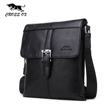 CROSS OX 2016 Autumn New Arrival Genuine Cowhide Leather Men's Shoulder Bags For Men Messenger Bag Casual Portfolio SL380M