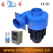 1/2HP 600CFM 220v industrial  duct hot air extract dust collector with frequency converter
