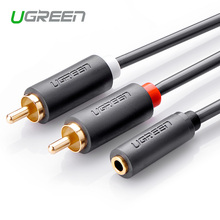 Ugreen RCA Cable 2RCA Male to Female 3.5mm Jack Aduio Cable 2M 3M 5M Aux Cable for iPhone Edifer Home Theater DVD VCD Headphones