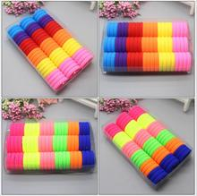 Diameter 3cm 66pcs/pack Candy Colour Basic Rubber Band Children Kids Elastic Hair Band Baby Girls Hair Rope Accessories kk1717
