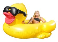 250CM 98Inch Giant Inflatable Duck Pool Float Yellow Ride-On Swimming Ring Adults Children Water Holiday Party Toys Piscina(China)