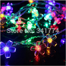 10m Pendant LED Crystal Cherry Blossom String Lights Lamps New Year Christmas Light Garland Fairy Wedding Luminaria Decoration(China)