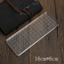 1 X Rectangle acrylic plate stamp accessories DIY scrapbooking photo album decoration supplies(China)