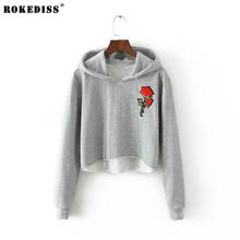 ROKEDISS 2017 Autumn Sweatshirt Women  Long sleeve Causal Tracksuit Ladies Women embroidery fashion  Hoodies X196