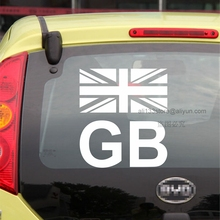GB Flag UK British England GB Union Jack Flag Car Decal Sticker Vinyl Truck Boat Die cut no background pick color and size