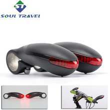 Mountain Bikes Bicycle Handlebar Warning Led Turning Lamp Handle Outfit Horn Light Cycling Bike Accessories New Promotion
