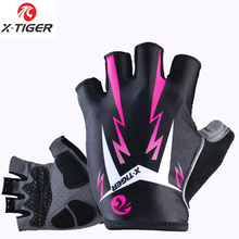 X-Tiger Women Shockproof Cycling Gloves Fitness Female Sport Bike Gloves Motorcycle Outdoor Mountain Road Bicycle Riding Gloves