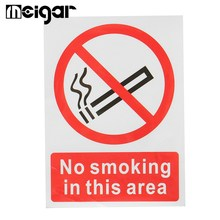 Warning Sticker No Smoking In This Area Warning Sign Vinyl Symbol Plastic Poster Promotion No Smoking Commonweal Poster Stickers