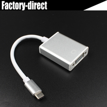 USB 3.1 USB type C USB-C to VGA converter adapter cable for Apple New Macbook/ Chromebook Pixel/Dell XPS 13/Yoga 900/Lumia 950(China)