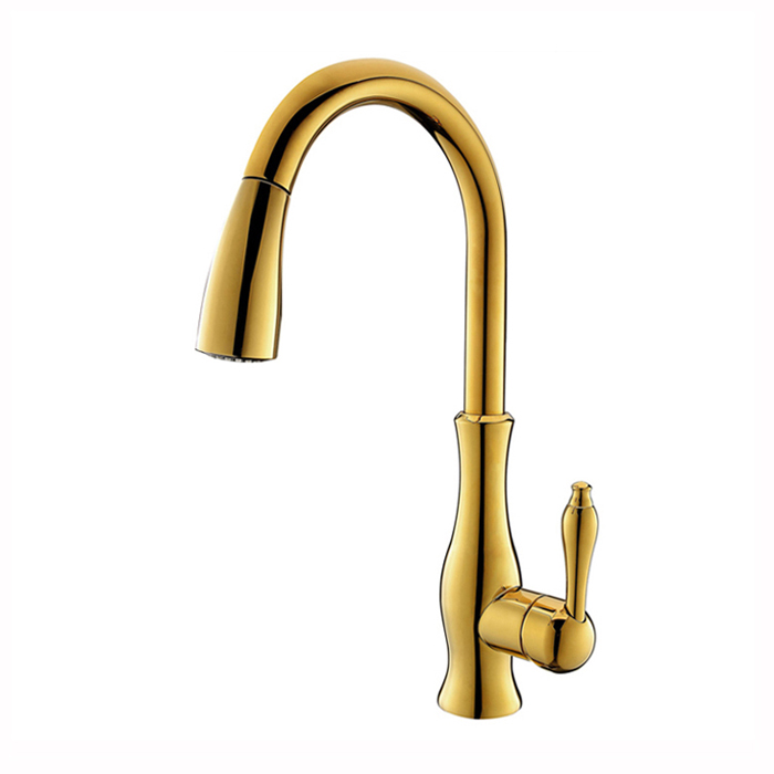GOLD PULL OUT KITCHEN FAUCET (8)