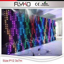 Free shipping 3m*7m led wall Pixel 120mm best price latest technology flexible LED video curtain