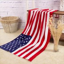 100% Cotton USA American/UK Flag Beach Bath Towel Large  70CM x 140CM Stars Stripes Red White Blue Free Shipping
