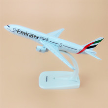 Alloy Metal Air Emirates B777 Airlines Airplane Model United Arab Emirates B777 Airways Plane Model Aircraft Kids Gifts 16cm(China)