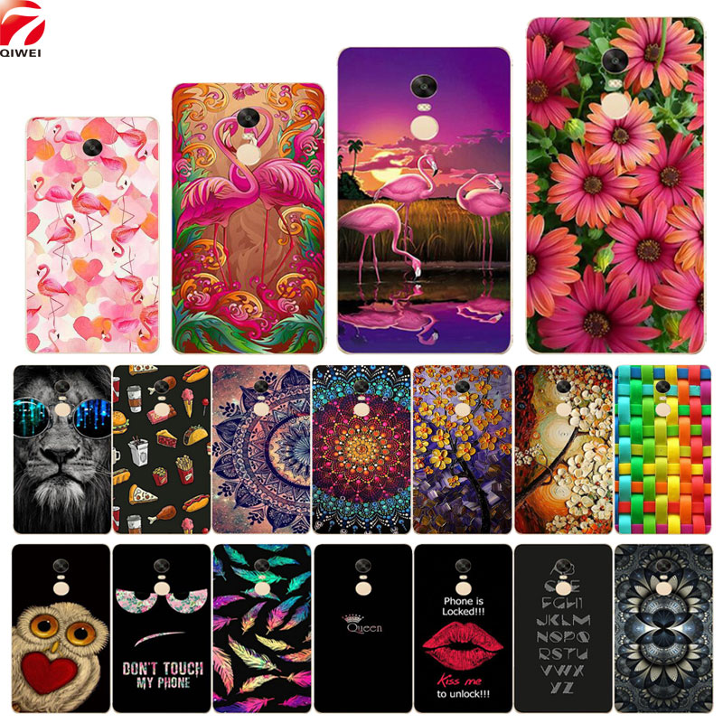 Xiaomi Redmi Note 4X Case Snapdragon 625 Colored Painted Soft TPU Silicone Back Cover Xiaomi Redmi Note 4 Global Version