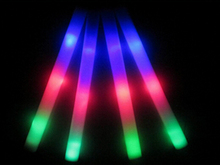 EMS Free Shipping 720pcs Multi Color Glow Stick 3 Modes LED Light Foam Stick ,Colors Changing Glow Foam Stick for Most Festival