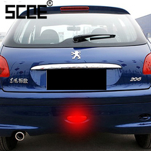 SCOE P21W DC12V 30SMD 5050LED Car Styling LED Rear Fog Light Source For Peugeot 206 RED COLOUR