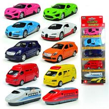 1:64 5Pcs Alloy Toy Car Models For Children Mini Pull Back Diecast Double door Opened Sports Cars Model Boys Toy Christmas Gifts(China)