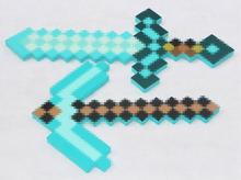 2017 Minecraft Toys Minecraft Foam Diamond Sword Pickaxe Axe Gun TNT EVA Model Toys Gift Toys For Kids Birthday Christmas Gifts