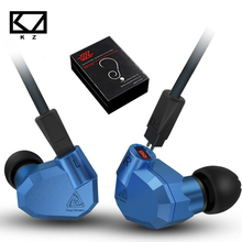 2017 New KZ ZS5 Heavy Bass Stereo Headphone Metal Earbuds Eight Units Dynamic and Balanced Armatures Hybrid Earphone for Xiaomi