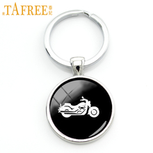 TAFREE Trendy sports men gifts Harley motorcycle key chain ring vintage motorbike profile silhouette keychain boy jewelry KC574