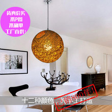 Ma balls chandelier manufacturers wholesale rattan dining room lamp nest woven lamp chandelier gold coin(China)
