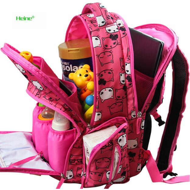 Cute Baby Care Diaper Bag Backpacks Maternity Bag For Mum Top Quality Maternidade Mochilas Large Capacity Baby Nappy Backpack<br>