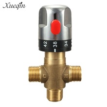 Xueqin Brass Thermostatic Mixing Valve Bathroom Faucet Temperature Mixer Control Thermostatic Valve Home Improvement
