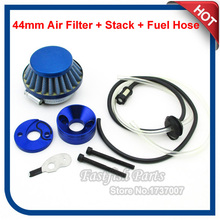 Upgrade Racing 44mm Air Filter & Aluminum Stack Adapter Vstack & Fuel Hose Line Kit For 47cc 49cc Mini ATV Dirt Pocket Bike(China)