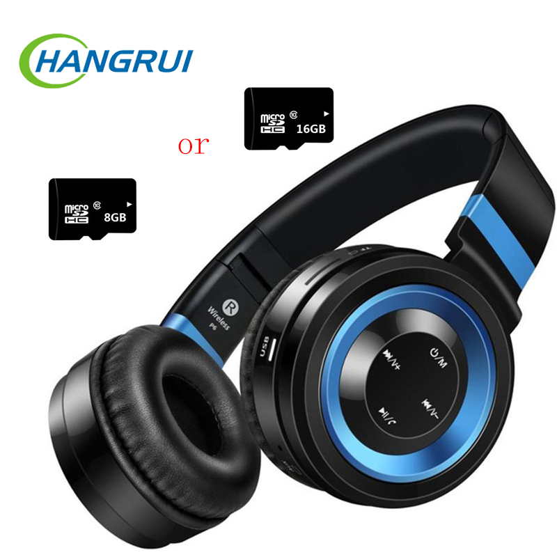 Wireless Bluetooth Headphone With Mic Sports Headphones Support TF Card FM Radio Stereo Bass Headset For iPhone Xiaomi + TF Card<br>