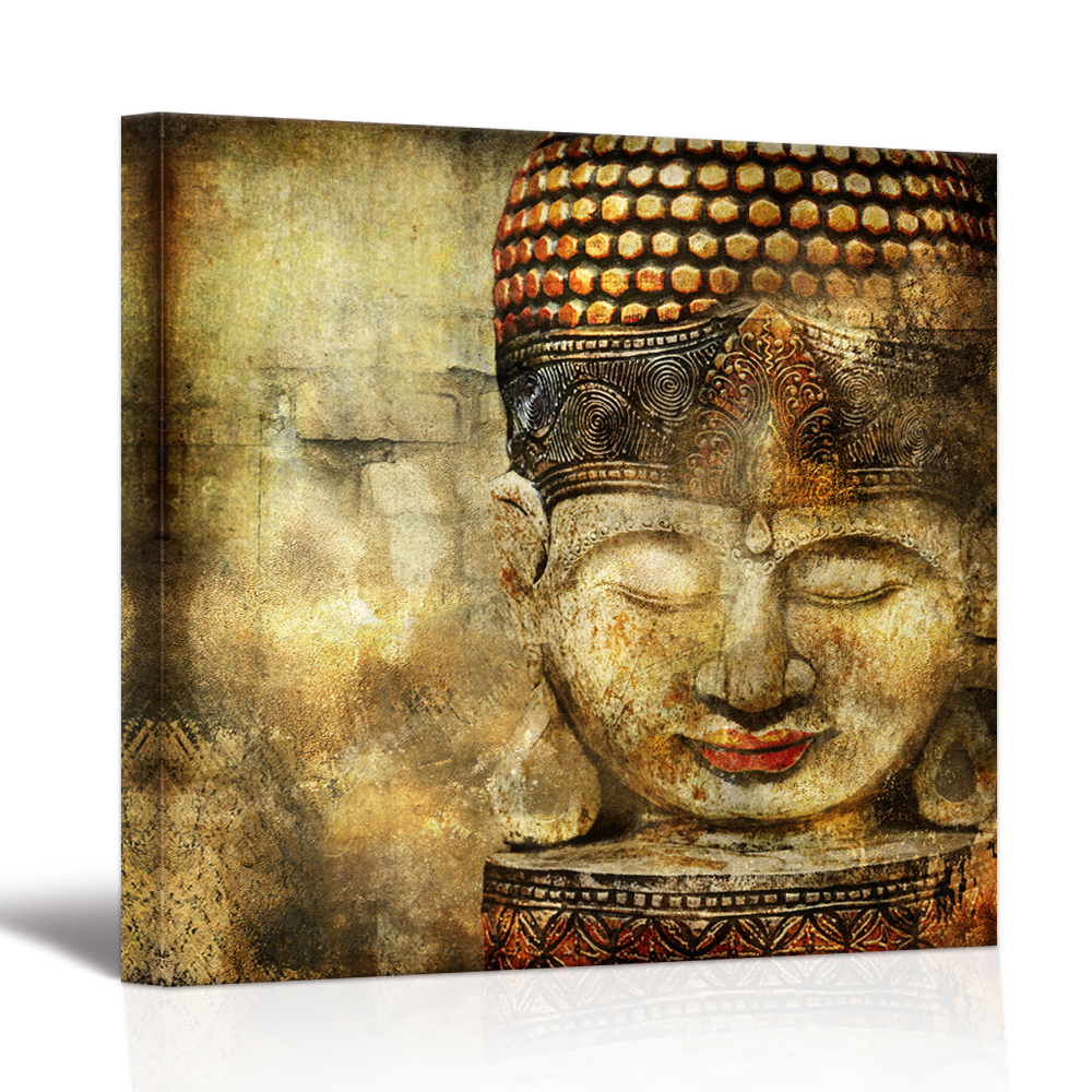 Aliexpress.com : Buy Visual Art Decor Large Buddha Painting Prints ...
