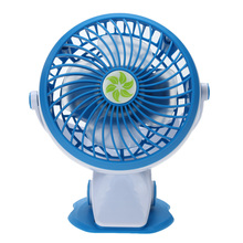 Portable Summer USB Gadgets Mini USB Rechargeable Clip Fan Powerbank Computer Charging Silent Desk USB Cooling Fan (Blue)(China)