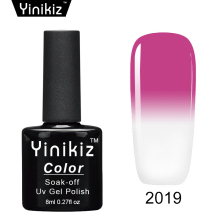 Yinikiz 1pcs New Product Gel Nail Polish Long-lasting Temperature Change Nail UV Nail Gel for Nail Soak Off Gel Polish(China)