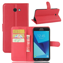Vintage Wallet With Stand PU Leather Case For Samsung Galaxy J5 2017 Phone Bag With 3 Bank Card Holders Simple Fashion Brown Red(China)