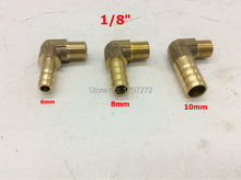 "free shipping copper fitting 6mm/8mm/10mm/12mm Hose Barb x 1/8"" inch male Brass Barbed Fitting Coupler Connector Adapter"