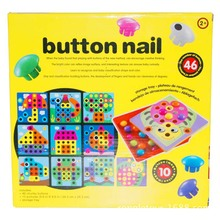 Baby Educational Toy Button Art Creative Mosaic Toy Nail Composite Picture Puzzle Mushroom Nail Kit Puzzle Toys Boy Girl gifts