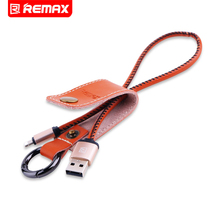 Remax Leather Moblie Phone Cable Date Transfer Cable Charge Cable For iPhone USB iOS 3.0A Fast Charging Cable Genuine Leather(China)