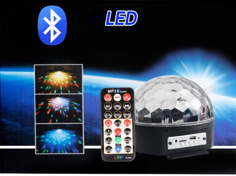 9 Colors MP3 Bluetooth Crystal Magic Ball Led Stage Lamp Disco Laser Light Party Lights Sound Control Laser Projector Music KTV<br><br>Aliexpress