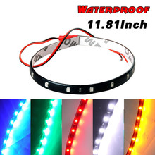 White Yellow Red Blue Green 15 SMD 30CM 5050 LED Strip Light Flexible Car Decor Waterproof Motor Truck Motorcycle Decoration