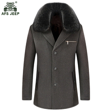 Free shipping Quality Brand Men's Woolen Coats Single Breasted Winter Wool Jackets Coats Men Blends Overcoat Casual Tops 150hfx(China)