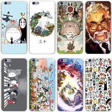 Studio Ghibli Spirited Away Totoro Hard Transparent Cover Case iPhone 7 Plus 6 6S 5 5S SE 5C 4 4S - Lavaza Official Store store