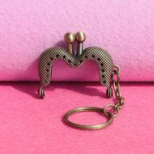 20pcs/lot 4 CM mini antique bronze M shape Metal Purse Frame handle for bag sewing kiss clasp accessories wholesale,Freeshipping